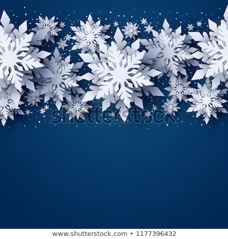Stock photo: winter snowflake background pattern
