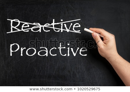 Crossing out reactive and writing proactive. Stock photo © latent
