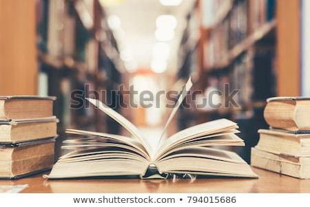 言葉 · を読む · 辞書 · 紙 · 図書 · 印刷 - ストックフォト © jakatics