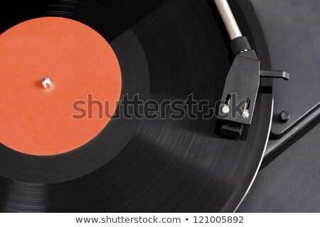 Vintage Record Player With Spinning Vinyl Motion Blur Image Zdjęcia stock © Artush