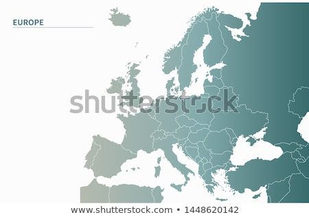európai · zászló · térkép · Magyarország · izolált · fehér - stock fotó © samsem