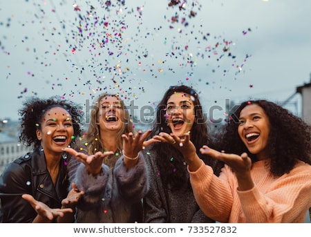 Four Happy Friends Stock photo © pcanzo