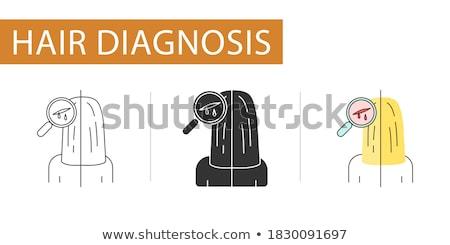 Véres üveg fej általános emberi túlterhelt Stock fotó © prill