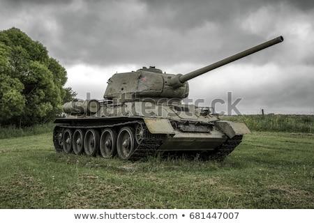 tanque · museu · lugar · pistola · máquina · transporte - foto stock © ruzanna
