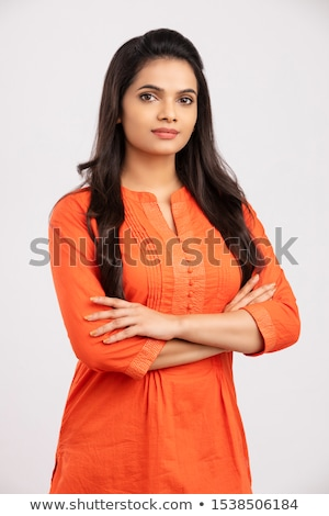 pretty young brunette woman stock photo © imarin