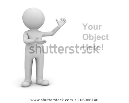 Foto d'archivio: Uomo · 3d · piedi · poster · illustrazione · 3d · persona · vuota