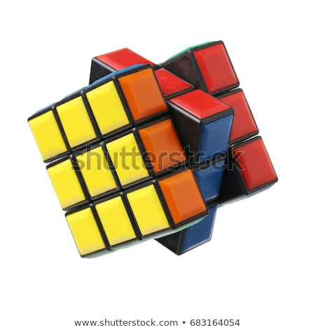 rubik cube isolated on white stock photo © robertosch