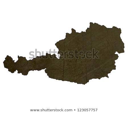 sötét · térkép · Ausztria · mintázott · izolált · fehér - stock fotó © speedfighter