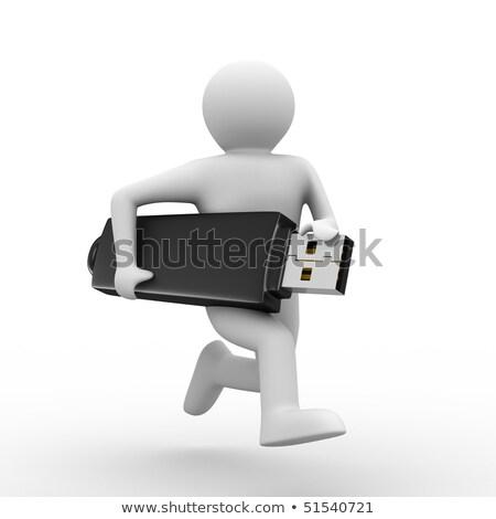 Imprenditore usb chiave tecnologia cavo Foto d'archivio © photography33