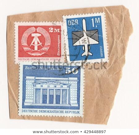 Postage stamps GDR Stock photo © samsem