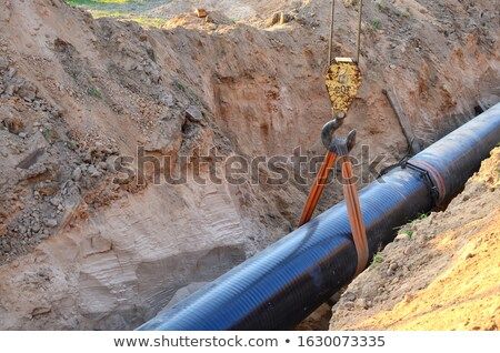 heavy machinery and gas pipeline construction site Stock photo © goce
