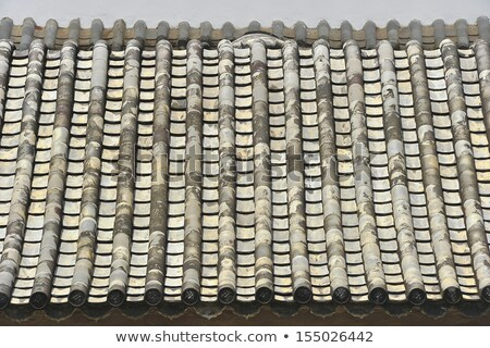 Ancient Grey Roof Tiles Beijing China  Stock photo © billperry