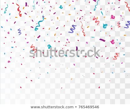 Konfeti atış renk dekorasyon Stok fotoğraf © cobaltstock