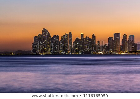 Panama City by Sunset Stock photo © dacasdo