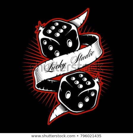 conjunto · pôquer · dourado · elementos · fundo · terno - foto stock © carodi