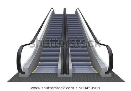 People moving down on an escalator Stock photo © ifeelstock