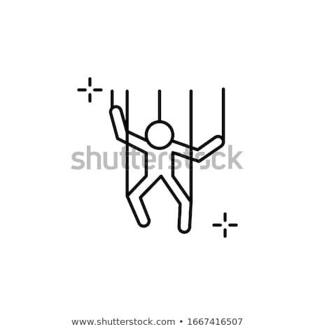 Vektor ikon marionett gyümölcs baba báb Stock fotó © zzve