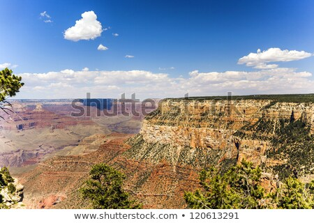 View from Maricopa Point to the Grand Canyon to North Rim, shadow of clouds on the rock face Stock photo © meinzahn