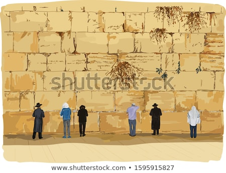 prayers at the wailing wall stock photo © eldadcarin