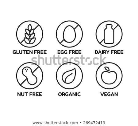 hitelesített · gluténmentes · három · bélyegek · különböző · étterem - stock fotó © squarelogo
