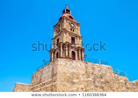 Middeleeuwse klok toren stad hal gebouw Stockfoto © FER737NG
