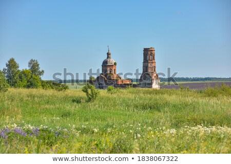 abandonado · rural · iglesia · Oregón · hierba · madera - foto stock © snyfer