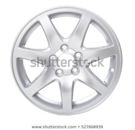 Autó alumínium kerék peremszegély izolált fehér Stock fotó © goce