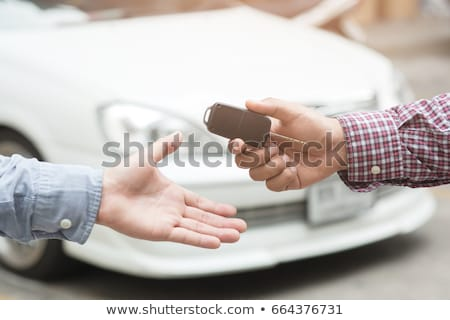 Handing Over the Car Keys - Close Up Stock photo © iqoncept
