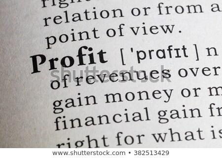 Parola profitto dizionario definizione blu colore Foto d'archivio © ifeelstock