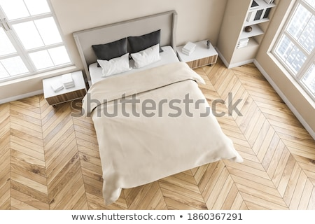 Rosolare camera da letto legno Coppia stanza hotel Foto d'archivio © Paha_L