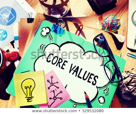 Core Values Sticky Note Stock photo © ivelin