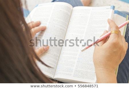 Ciencia diccionario atención selectiva definición palabra papel Foto stock © iofoto
