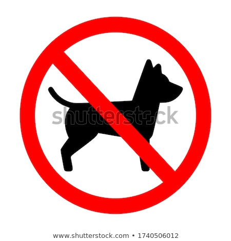 Dogs not allowed Stock photo © Stocksnapper