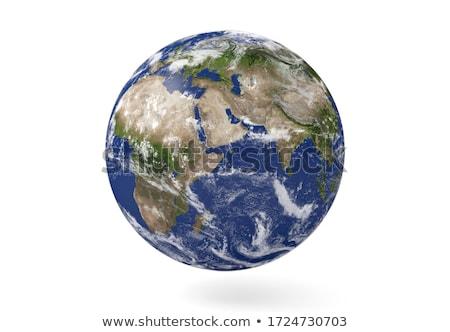 Mavi dünya beyaz ışık dizayn dünya Stok fotoğraf © jezper