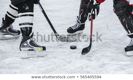 Close-up of man playing ice hockey Stock photo © zzve