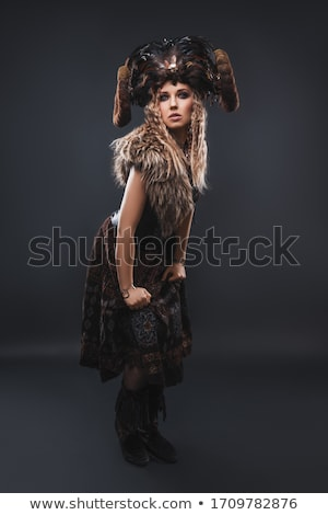 portre · güzel · sarışın · bayan · seksi - stok fotoğraf © sumners