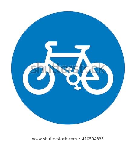 biciklizik · sáv · felirat · kilátás · nő · ingázás - stock fotó © latent