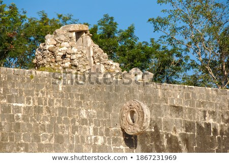mayan stone ballcourt goal stock photo © ozgur