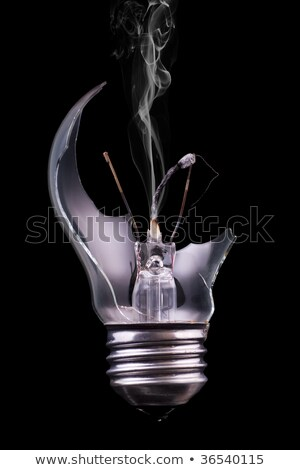 Broken light bulb with a burning match Stock photo © vladodelic