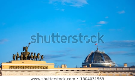 Alexander Column - Palace Square in St Petersburg Stock photo © chrisdorney