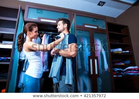 Pár öltöző üzlet család lány szeretet Stock fotó © pxhidalgo
