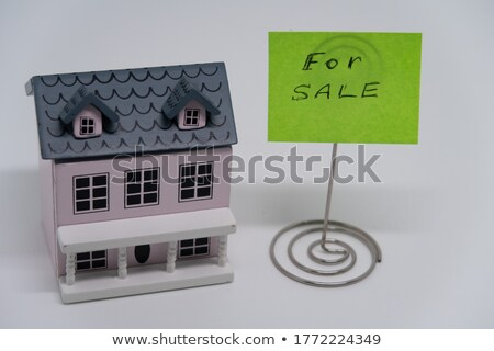 Symbolique maison sur architectural dessins Photo stock © Vladimir