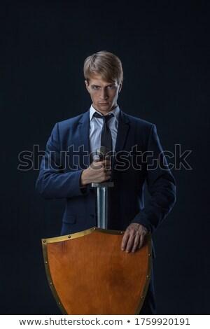businessman with shield stock photo © kirill_m