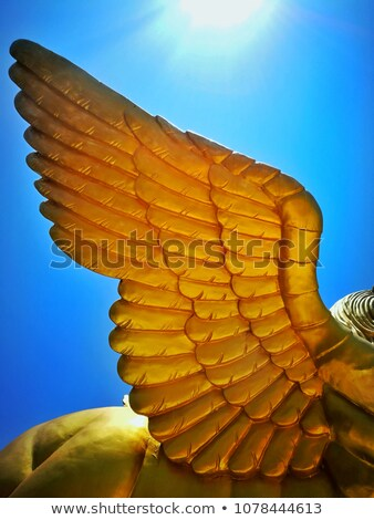 Stock photo: Winged Lion Statue
