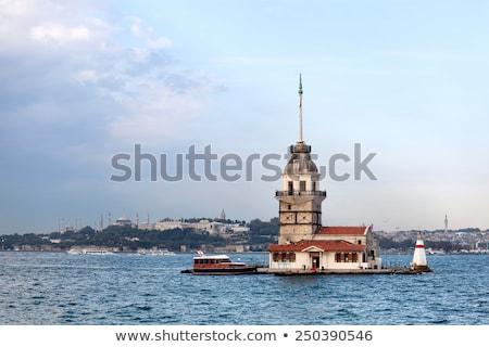 Sziget Isztambul Törökország naplemente idő égbolt Stock fotó © AndreyKr