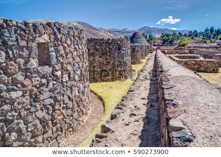 Peru ruínas nuvens parede paisagem Foto stock © pxhidalgo