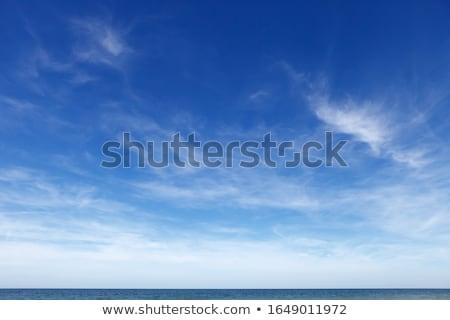 пушистый облака морем синий Средиземное море свет Сток-фото © Kirill_M