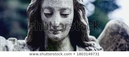 dua · eden · melek · heykel · mermer · yas · melek - stok fotoğraf © vadimmmus