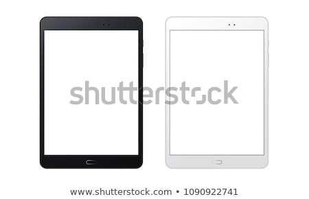 hombre · LCD · Screen · teléfono · móvil · blanco · sonrisa - foto stock © kirill_m