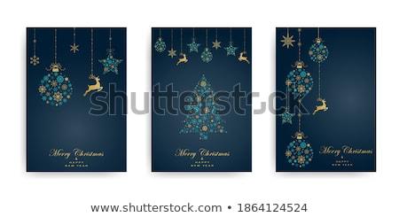 vector snowflake on blue background winter christmas illustratio Stock photo © cherju